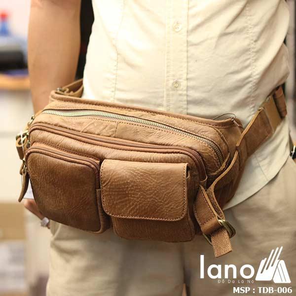 Túi đeo bụng nam da bò nhỏ gọn tiện lợi TDB006 - đeo bụng