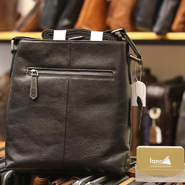 Túi đeo chéo nam công sở da bò đẳng cấp cho phái mạnh KT101 đen - mặt sau