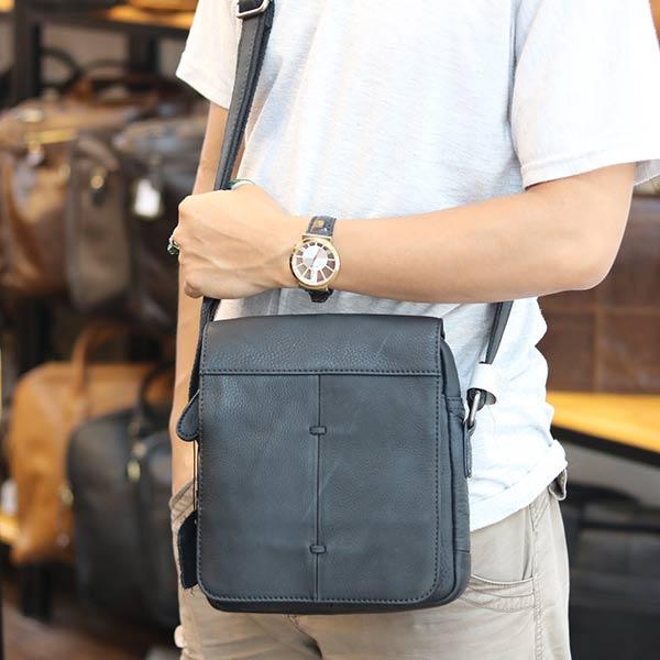 Túi đeo chéo nam da bò cao cấp Lano sang trọng thời trang tiện lợi KT107 đeo chéo