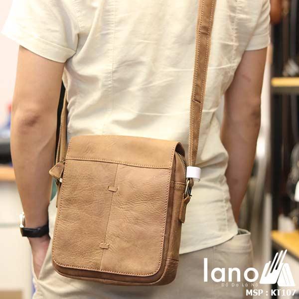 Túi đeo chéo nam da bò cao cấp Lano sang trọng thời trang tiện lợi KT107 - đeo lưng