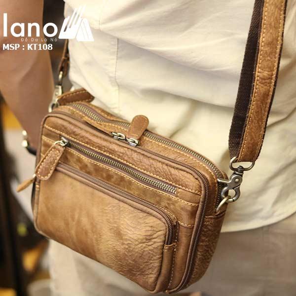 Túi đeo chéo nam da bò giá rẻ thời trang cao cấp KT108 - đeo chéo