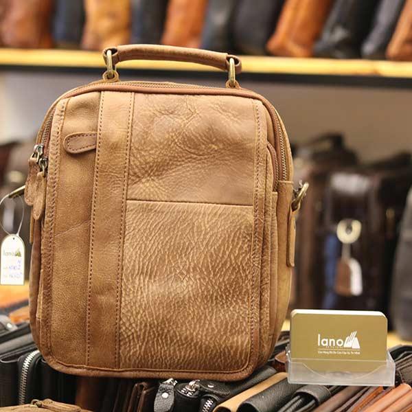 Túi đeo chéo nam da bò thật Lano thời trang cao cấp KT102