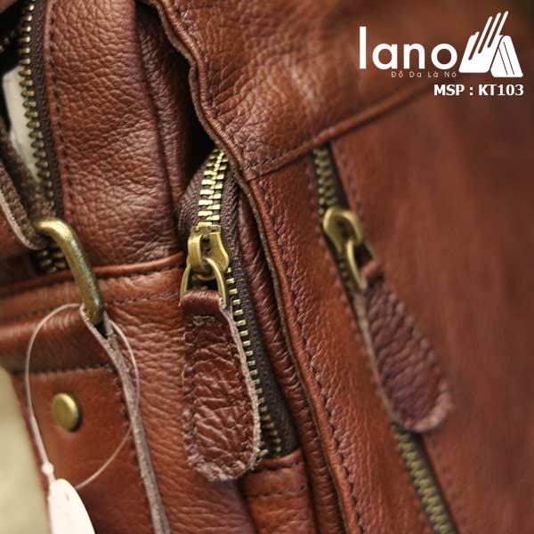 Túi đeo chéo nam da thật Lano khỏe khoắn tiện lợi KT103