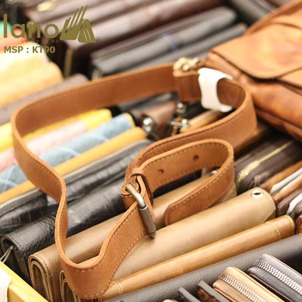 Túi đeo chéo nam Lano da bò thật trẻ trung tiện lợi KT90 - dây đeo