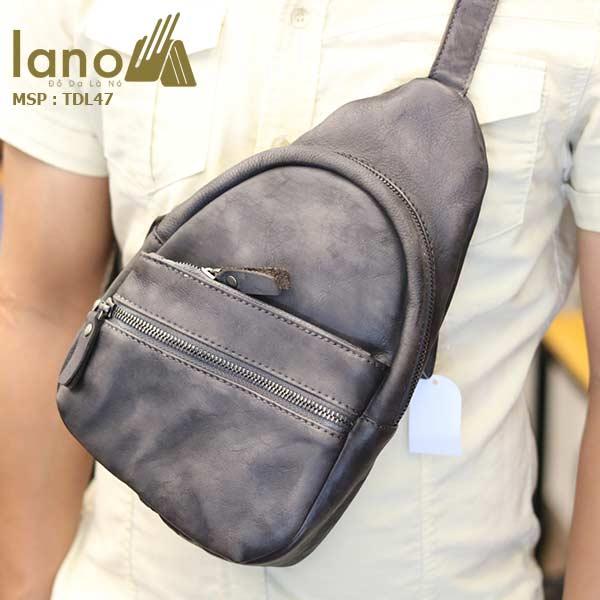 Túi đeo chéo ngực nam Lano da bò cao cấp tiện dụng mẫu mới 2018 TDL47 - đeo trước ngực