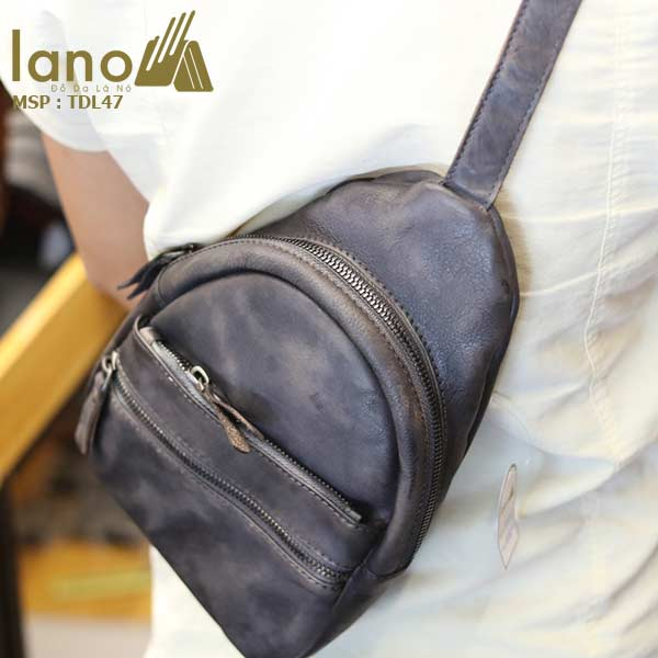 Túi đeo chéo ngực nam Lano da bò cao cấp tiện dụng mẫu mới 2018 TDL47