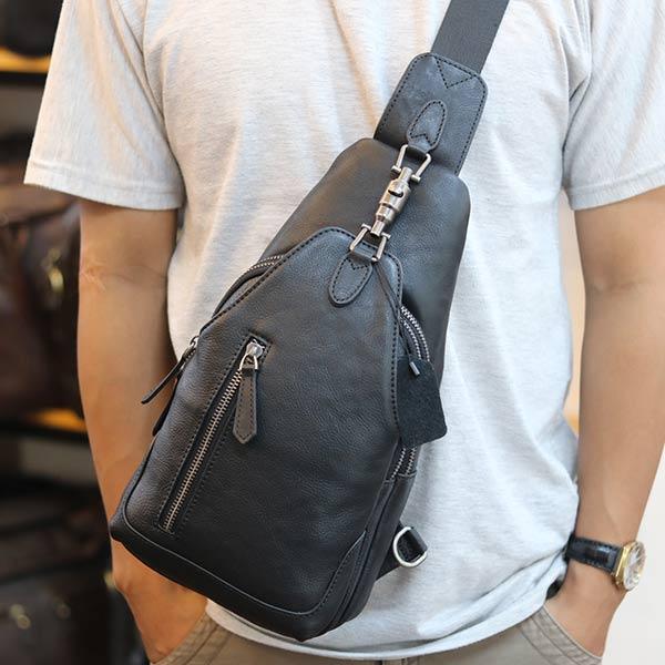 Túi đeo ngực nam Lano da bò thời trang phong cách TDL49 đeo chéo
