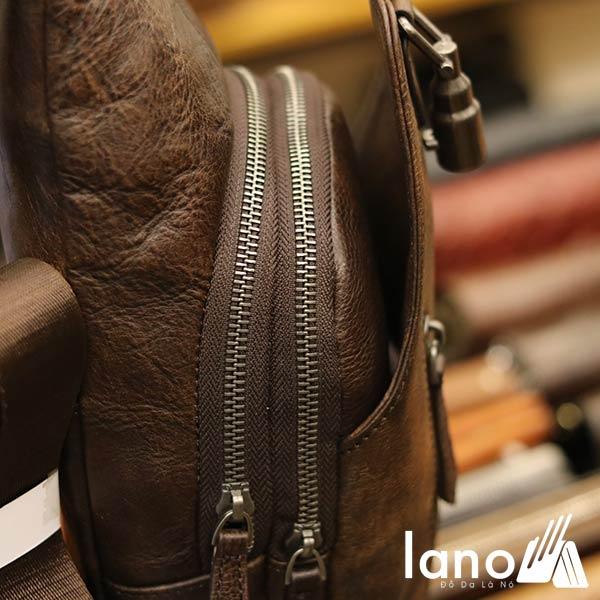 Túi đeo ngực nam Lano da bò thời trang phong cách TDL49 - cạnh bên