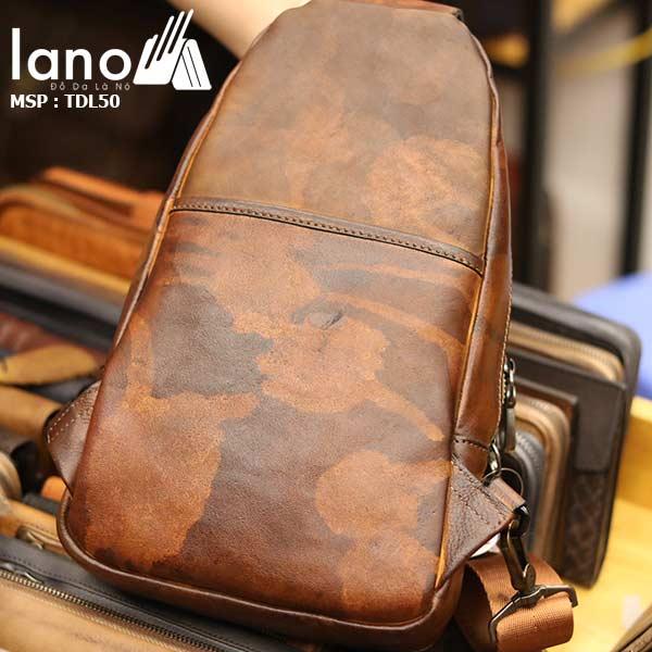 Túi đeo ngực nam Lano thời trang cao cấp TDL50 - mặt sau