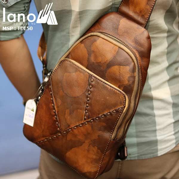 Túi đeo ngực nam Lano thời trang cao cấp TDL50