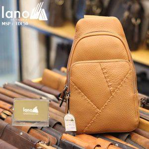 Túi đeo ngực nam Lano thời trang cao cấp TDL50 vàng