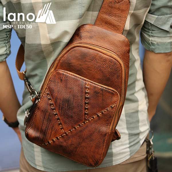Túi đeo ngực nam Lano thời trang cao cấp TDL50 - đeo lưng