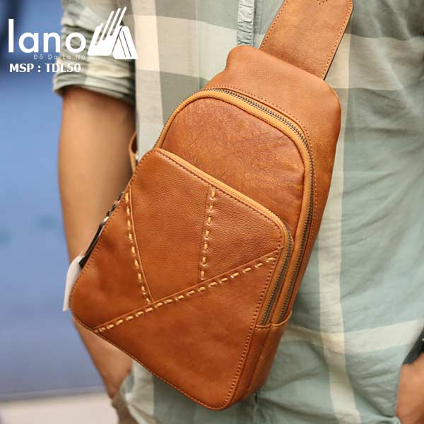 Túi đeo ngực nam Lano thời trang cao cấp TDL50 - đeo trước ngực
