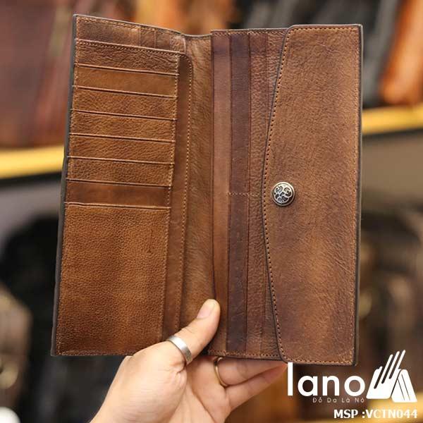 Ví cầm tay Lano nam tính thời trang tiện lợi đẹp độc lạ VCTN044 - bên trong