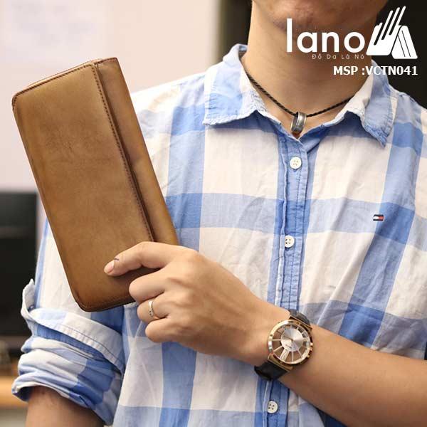 Ví cầm tay nam Lano mạnh mẽ nam tính mới nhất 2018 VCTN041 trên tay