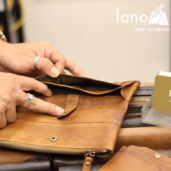 Ví cầm tay nam Lano thời trang cao cấp VCTN046 - bên trong