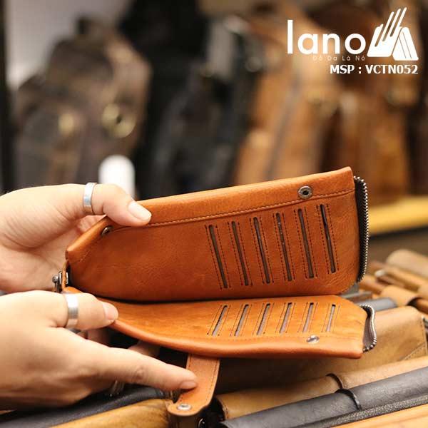 Ví cầm tay nam Lano thời trang mới nhỏ gọn tiện lợi VCTN052 - bên trong