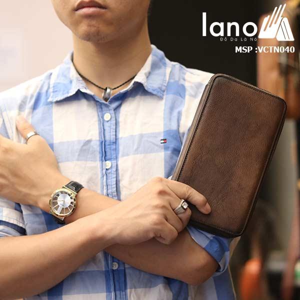 Ví Câm tay nam Lano thời trang sang trọng đẳng cấp cho phái mạnh VCTN040 - trên tay