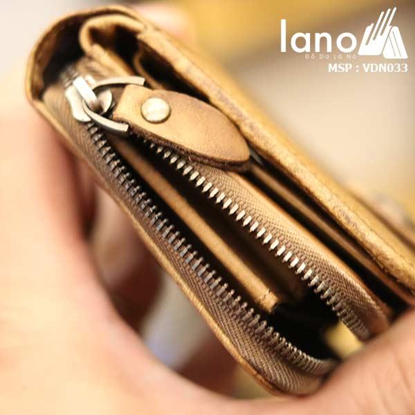 Ví da nam Lano tiện lợi sang trọng thời trang nhất VDN033 khóa ngăn