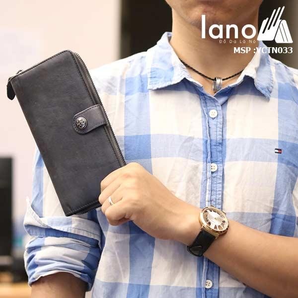 Ví dài cầm tay nam Lano tự tin cá tính mẫu mới 2018 VCTN033 trên tay