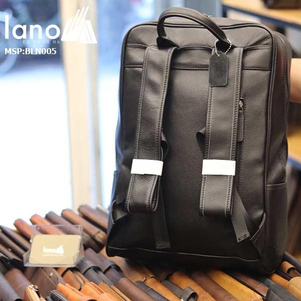 Ba lô nam da bò Lano thời trang công sở đựng laptop BLN05 mặt sau