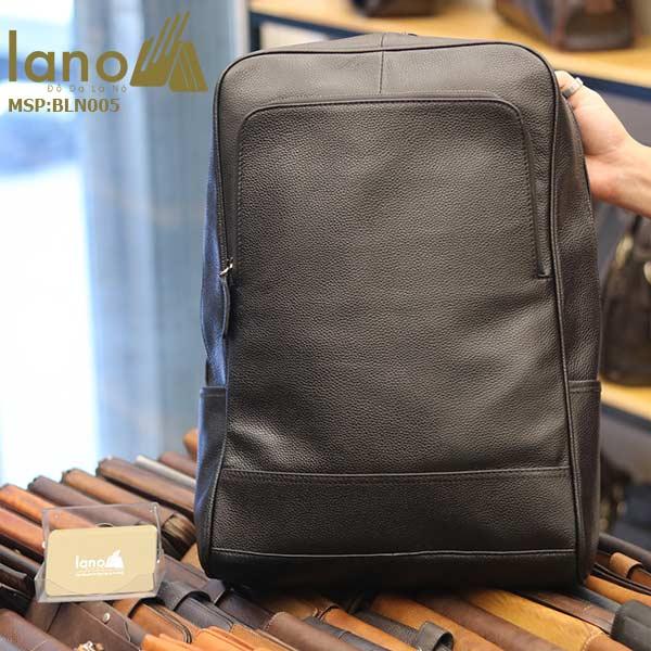 Ba lô nam da bò Lano thời trang công sở đựng laptop BLN05