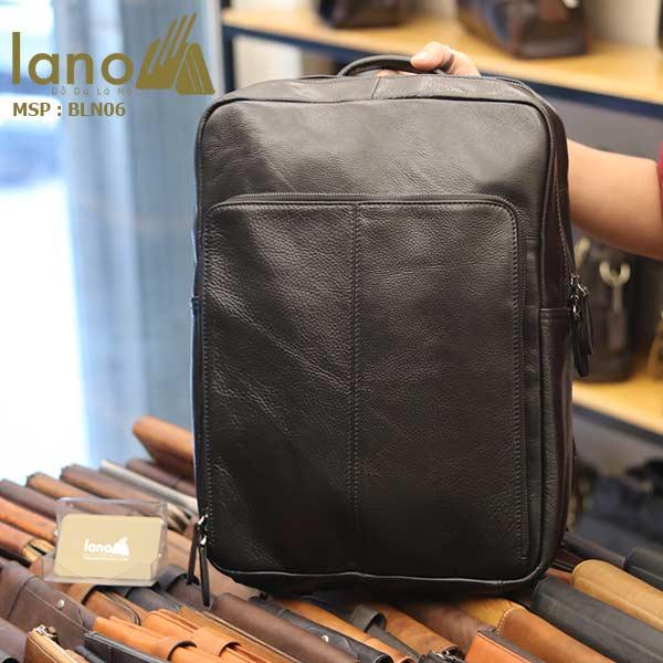 Balo da bò cho nam thời trang giá rẻ đựng Laptop Lano BLN06