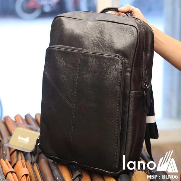 Balo da bò cho nam thời trang giá rẻ đựng Laptop Lano BLN06 nghiêng