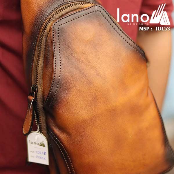 Túi da đeo trước ngựa nam Lano da bò thật TDL53Túi da đeo trước ngựa nam Lano da bò thật TDL53