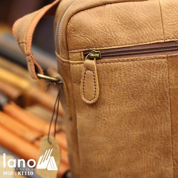 Túi đeo chéo nam da bò đẳng cấp sang trọng KT110 - mặt sau