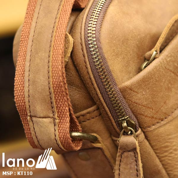 Túi đeo chéo nam da bò đẳng cấp sang trọng KT110 - khóa kéo