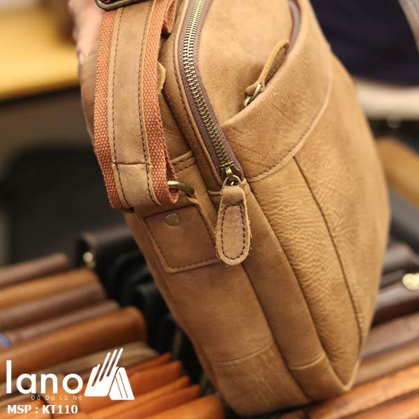 Túi đeo chéo nam da bò đẳng cấp sang trọng KT110 - nghiêng