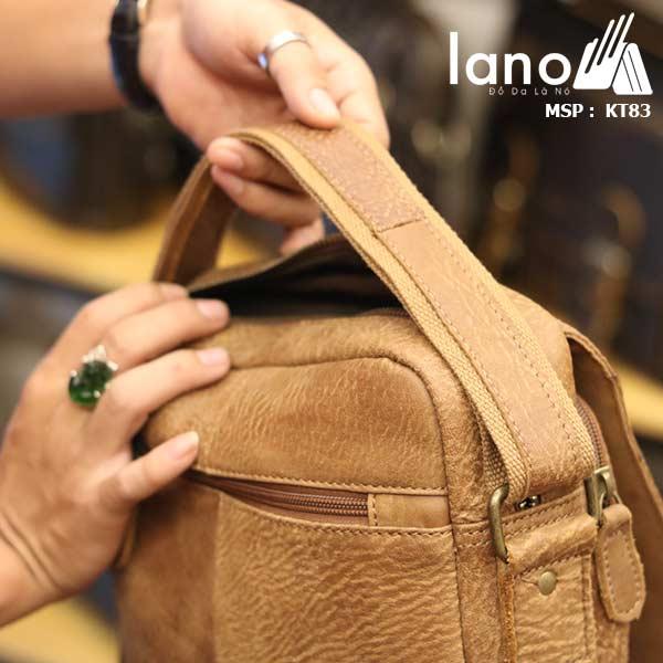 Túi đeo chéo nam đựng iPad da bò thời trang cao cấp KT83 mặt sau