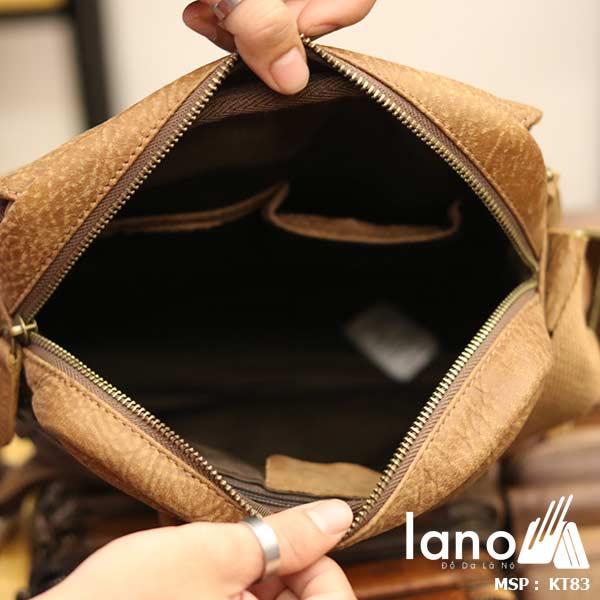 Túi đeo chéo nam đựng iPad da bò thời trang cao cấp KT83 bên trong