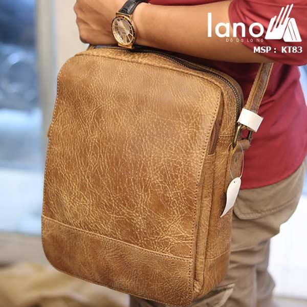 Túi đeo chéo nam đựng iPad da bò thời trang cao cấp KT83 đeo vai