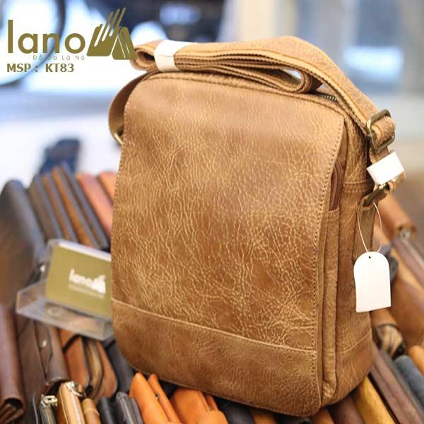 Túi đeo chéo nam đựng iPad da bò thời trang cao cấp KT83 - nghiêng