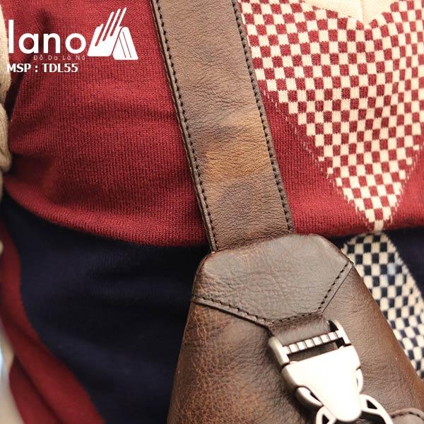 Túi đeo ngực nam da bò thời trang cao cấp mẫu mới 2018 TDL55