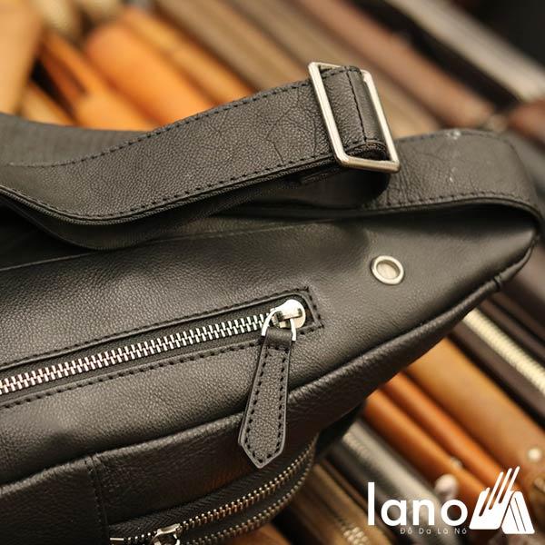 Túi đeo ngực nam da bò thời trang cao cấp mẫu mới 2018 TDL55 - mặt sau