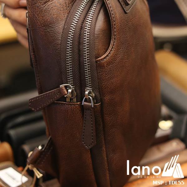 Túi đeo ngực nam da bò thời trang cao cấp mẫu mới 2018 TDL55 - khóa kéo