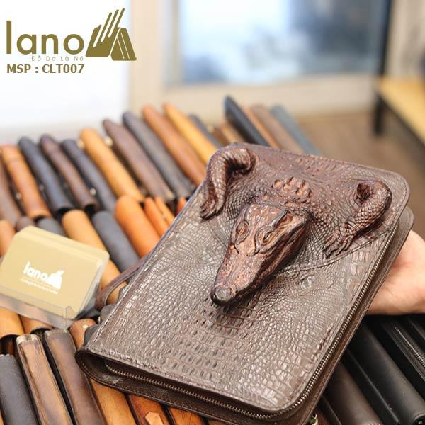 Túi Ví Bóp Cầm Tay Nam Da Cá Sấu Hàng Hiệu Giá Rẻ Siêu Đẳng Cấp CLT007