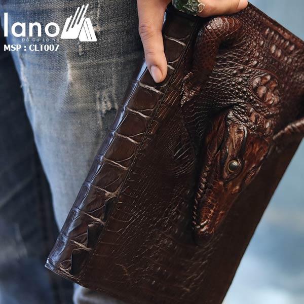 Túi Ví Bóp Cầm Tay Nam Da Cá Sấu Hàng Hiệu Giá Rẻ Siêu Đẳng Cấp CLT007 cầm tay