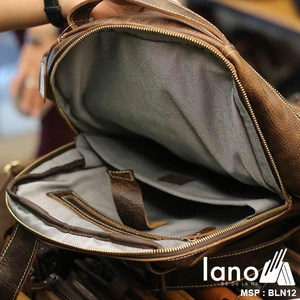 Balo da bò thời trang phong cách đựng Laptop Lano BLN12 - ngăn trong