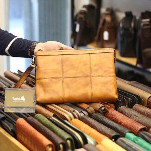 Túi da cầm tay thời trang Lano gọn nhẹ CLT009