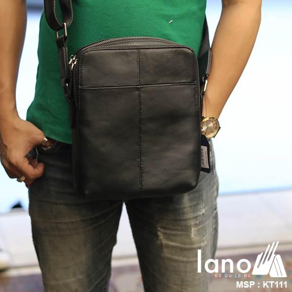 Túi da đeo chéo Lano gọn nhẹ sang trọng lịch lãm KT111 - đeo chéo