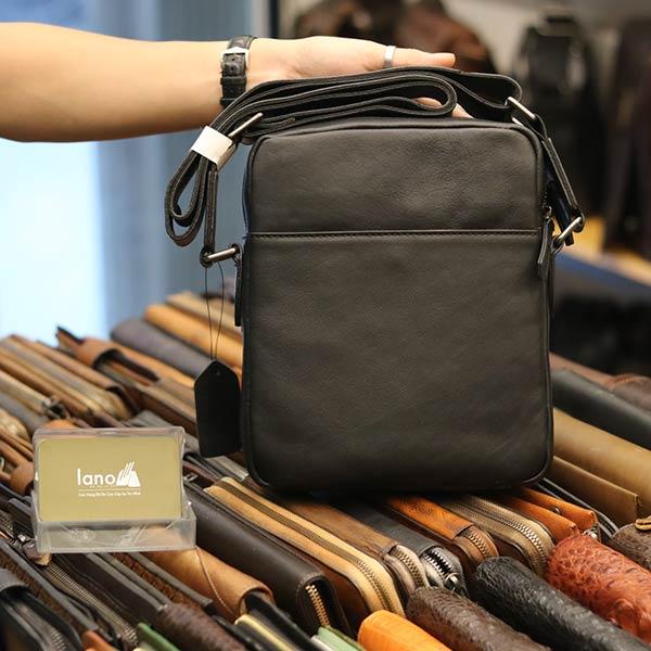 Túi da đeo chéo Lano gọn nhẹ sang trọng lịch lãm KT111 - mặt sau