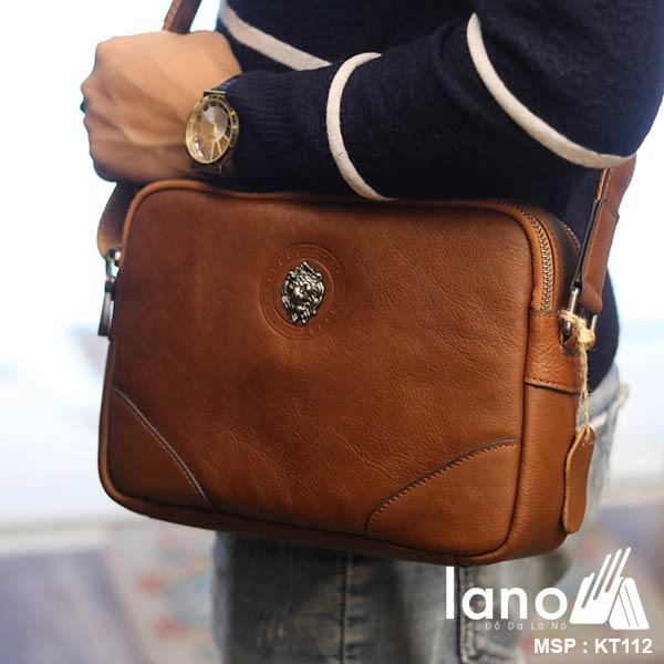 Túi đeo chéo công sở Lano da bò thời trang tiện lợi KT112 - đeo chéo