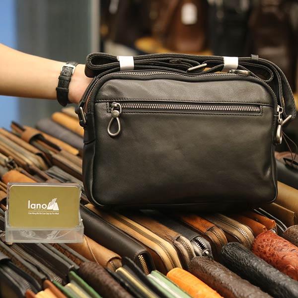 Túi đeo chéo công sở Lano da bò thời trang tiện lợi KT112 - mặt sau