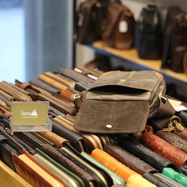 Túi đeo chéo da bò thời trang phong cách Lano J34 - bên trong