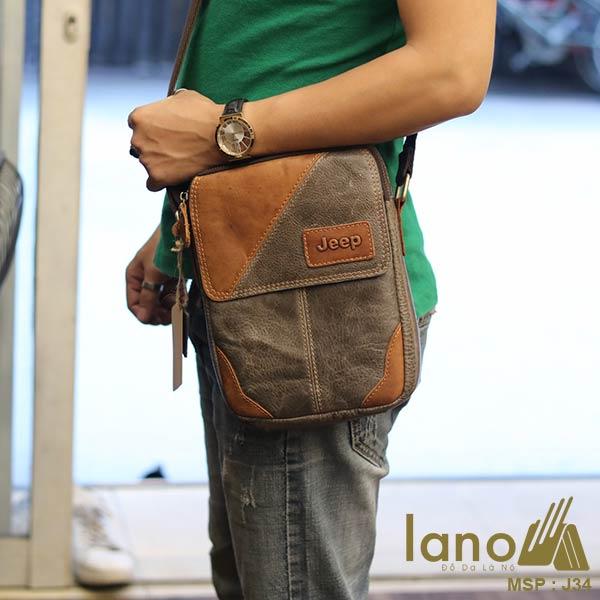 Túi đeo chéo da bò thời trang phong cách Lano J34 - đeo chéo