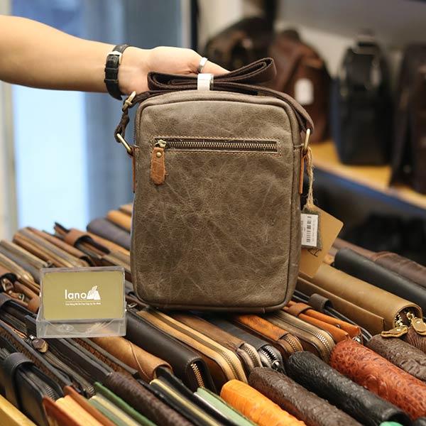 Túi đeo chéo da bò thời trang phong cách Lano J34 - mặt sau